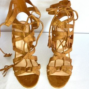 Indigo rd. Brown wedge sandals heels